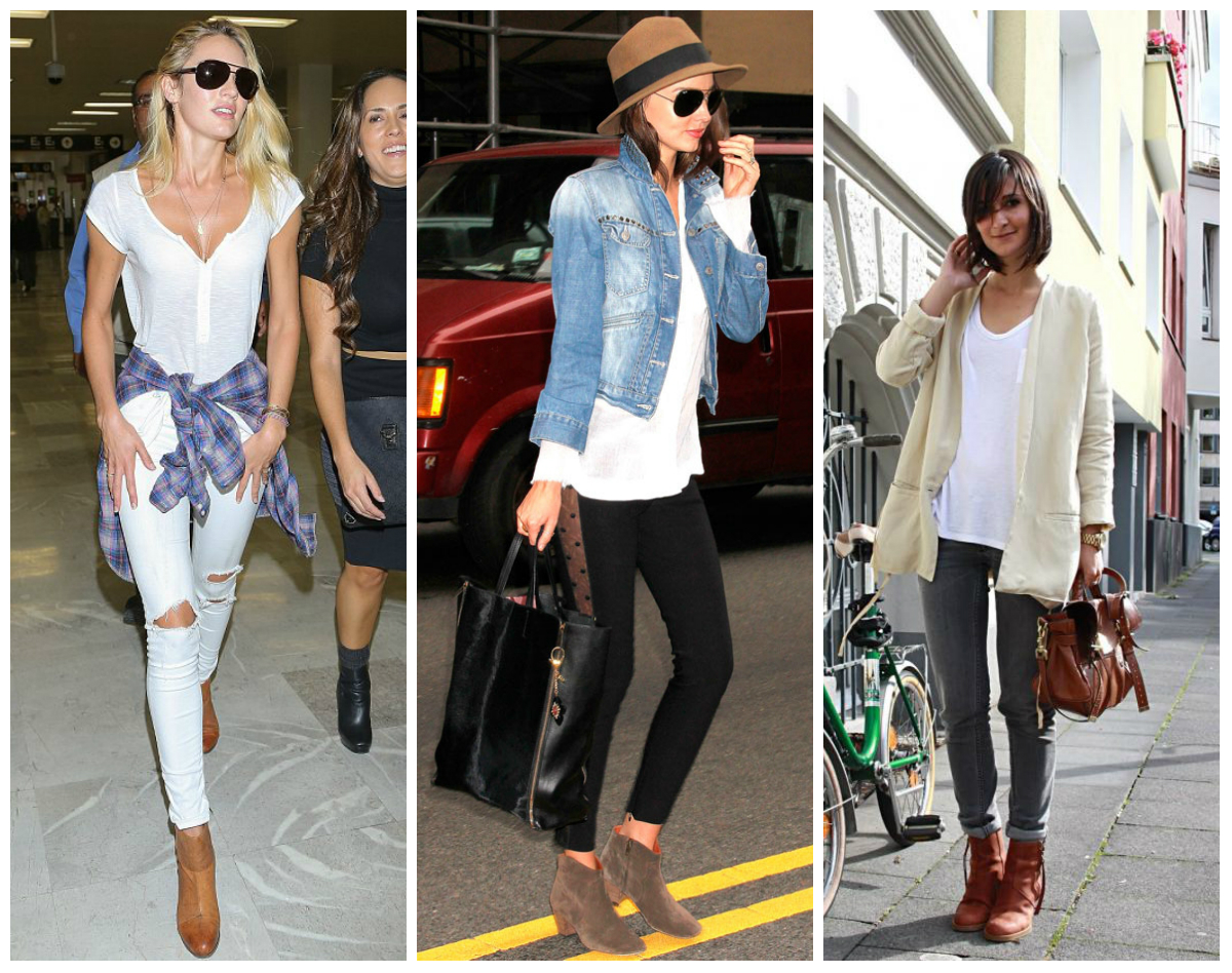 how to wear tan ankle boots